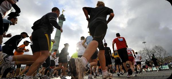COURIR POUR OLIVIA FOR EVER.  Plusieurs coureurs, aux couleurs de notre association,  ont participé au 38ème Marathon de Paris